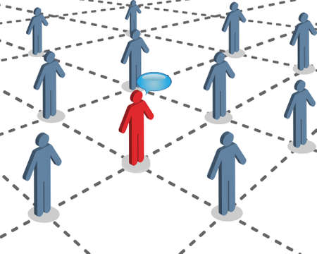 People connected with each other via social network
