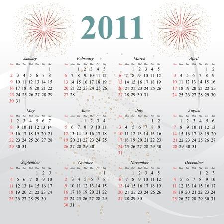 Calendar for the new year 2011 Vector