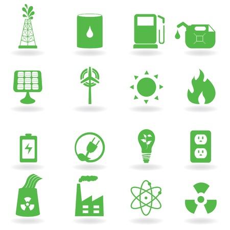 生態学と緑の環境関連アイコン  イラスト・ベクター素材