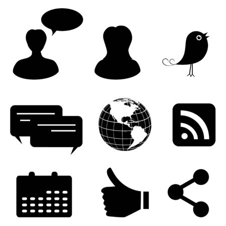 Social network and media icons