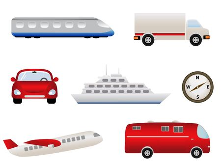 Transportation related symbols or icons Vector