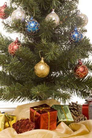 Christmas gifts under the tree Banco de Imagens