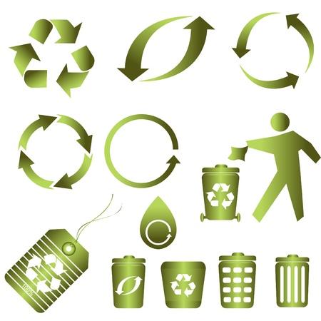 깨끗한 환경을위한 심볼 재활용 스톡 콘텐츠 - 8386938