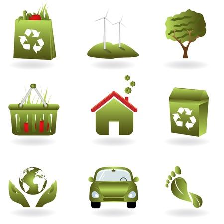 リサイクル、グリーン関連エコ シンボル  イラスト・ベクター素材