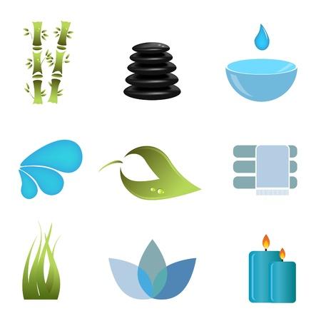 Articles et symboles liés au spa Vecteurs