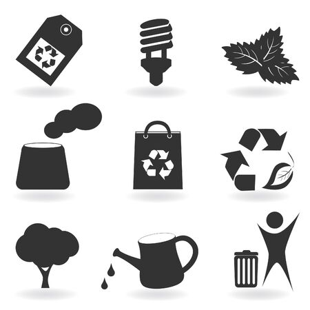 Environment and recycle related icons Stock Vector - 8775945