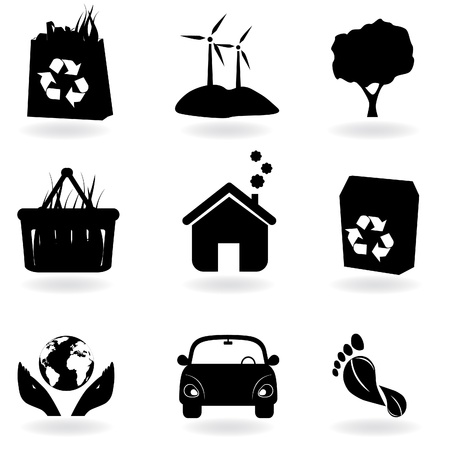 Recycling and clean environment icons Vector