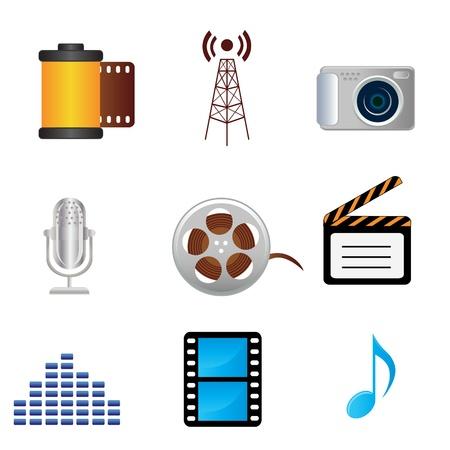 Film, musica, fotografia correlati media Icone