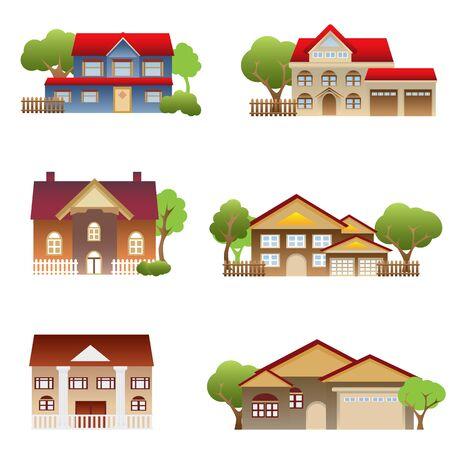 Vari disegni architettonici casa singola Archivio Fotografico - 8904703