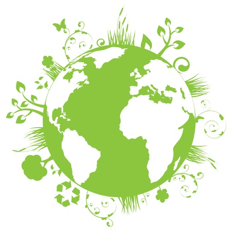 Green and clean earth  Vector