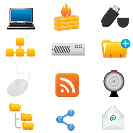 Computer and technology icon set Stock Vector - 9247896