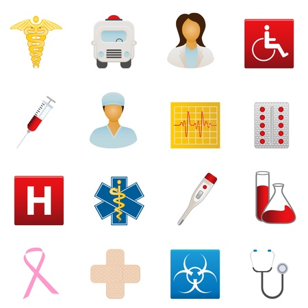 Medical and healthcare icon set Ilustracja