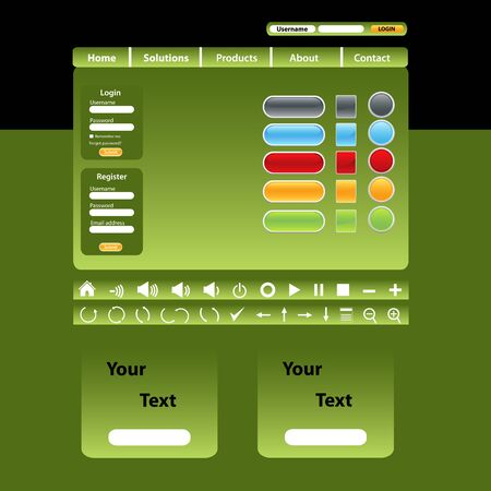 Website ontwerpsjabloon in groene tinten