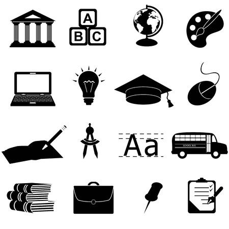 学校・教育関連シンボル  イラスト・ベクター素材