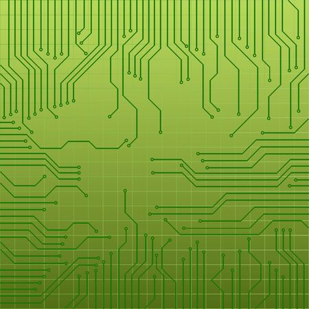 electronic board: Green circuit board for technology background