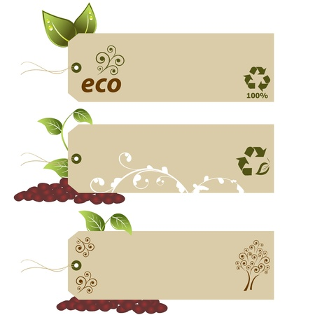 Blank eco tags with copyspace