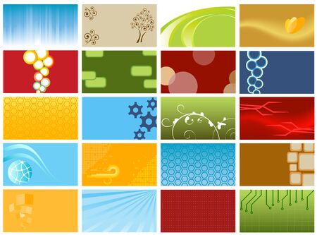 Various business cards or backgrounds Stock Vector - 9885219
