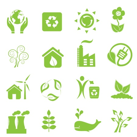 Eco and environment icon set Stock Vector - 10120314