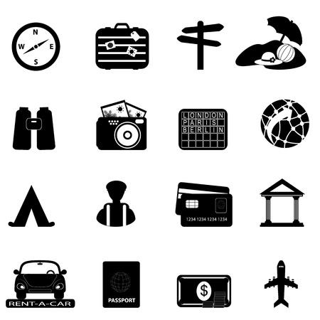 Reizen en toerisme gerelateerde icon set