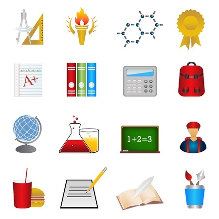 school icon: Back to school and education icons