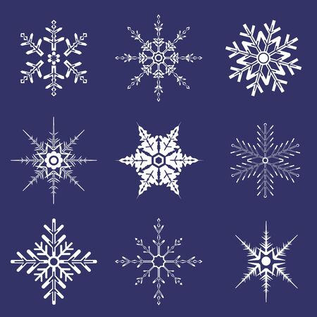 Snowflakes of various shapes