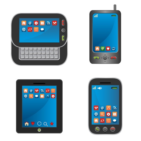 pc icon: Smart mobile devices and phones Illustration