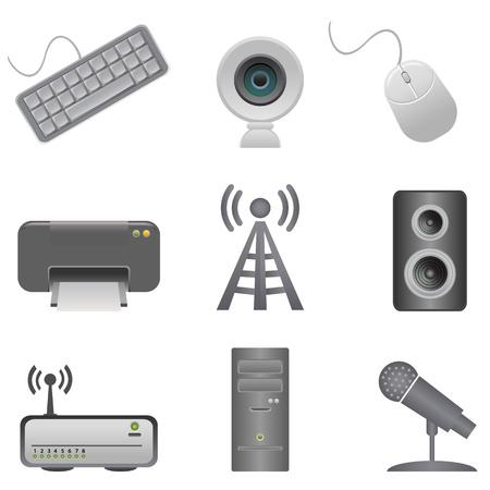 Verschiedene Computer-Peripheriegeräte und Zubehör Standard-Bild - 11095617
