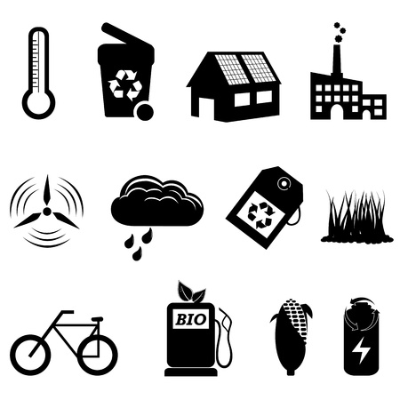 Recycle, eco, bio and environment icons