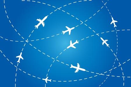 Planes en route to their destination Stock Vector - 11275095