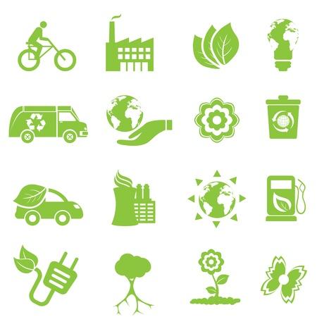 Kologie und Umwelt Icon Set Standard-Bild - 12305070