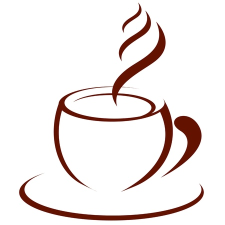 Hot cup of coffee 일러스트