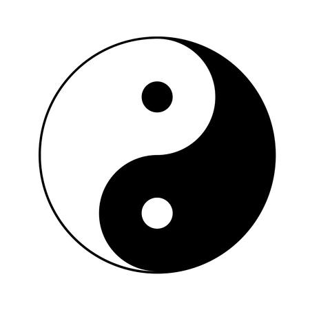 음과 양의 상징 일러스트