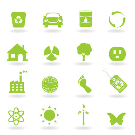 Eco and environment icon set Stock Vector - 12305269