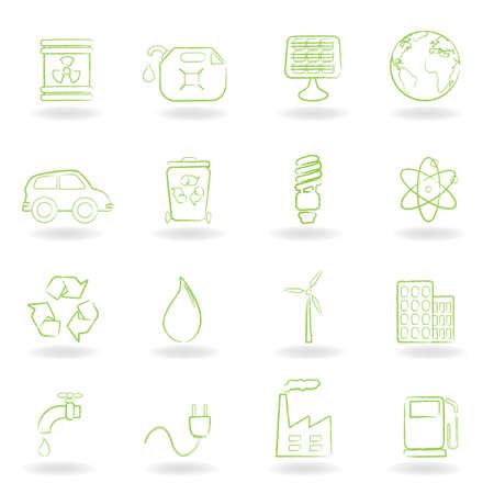 hazardous waste: Ambiente e ecologia icon set