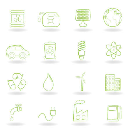 Environment and ecology icon set Ilustrace