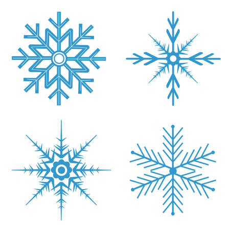 Blue snowflakes for winter time Çizim