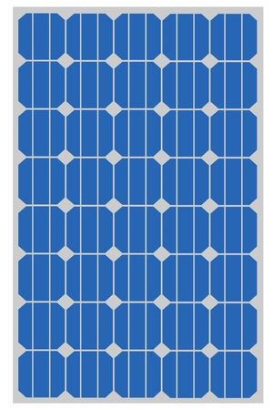 Solar panel for clean energy Vector