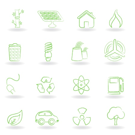 Eco and environmet related symbols Vector