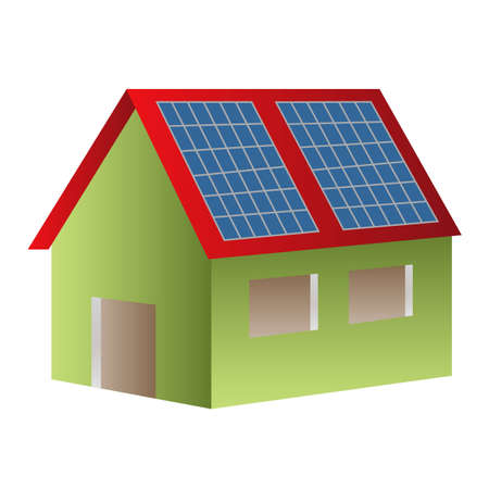 House powered with solar panels