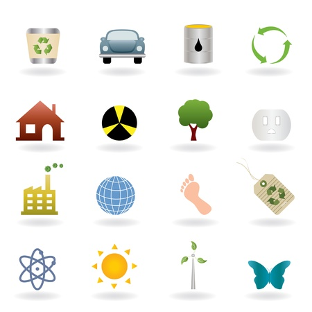 hazardous material: Ecology icons and symbols set