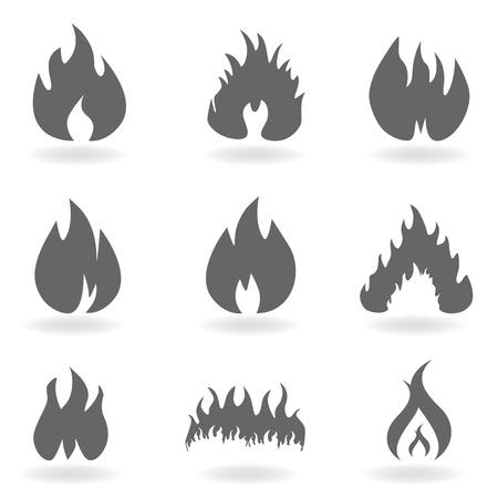 회색 불꽃 및 화재