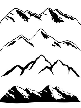 snow mountains: Various high mountain peaks