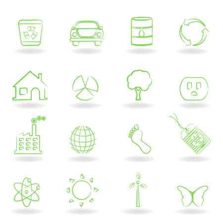Eco and clean environment symbols Stock Vector - 12305463