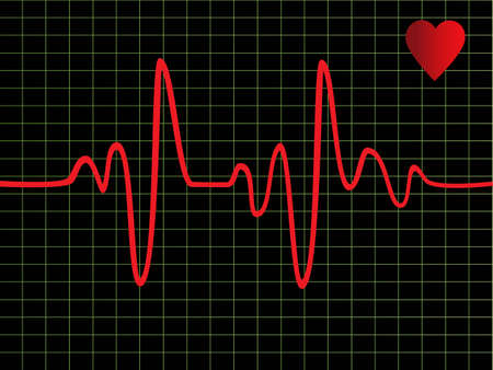 batida de cora��o: Heart beat monitor or EKG