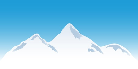 mountain top: Snowy mountain peaks in winter