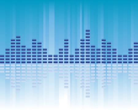 Musique, audio et le volume sonore Banque d'images - 12305405