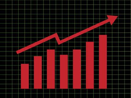 Zakelijke grafiek met pijl omhoog