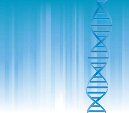 DNA strand on blue background with copyspace Stock Vector - 12305344