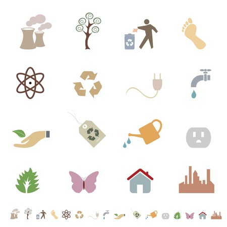 Environment and eco friendly icon set Stock Vector - 12305293