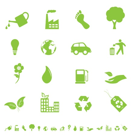 Environment and eco signs and symbols Illustration
